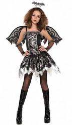 Disfraz ángel negro adolescente Halloween