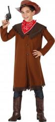 Disfraz vaquero marrón niño