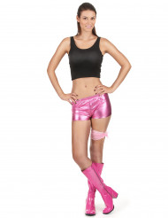 Shorty disco rosa brillante mujer