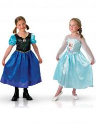Disfraz duo Anna y Elsa Frozen™ niña
