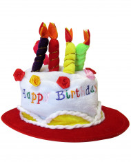 Sombrero Happy Birthday rojo adulto