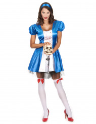Disfraz princesa de las maravillas sangrienta mujer Halloween