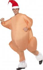 Disfraz pavo inflable adulto Navidad