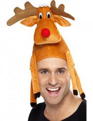 Gorro reno adulto Navidad