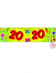 Pancarta papel 20 años