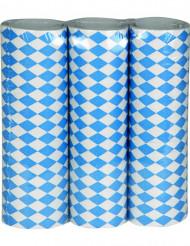 3 Serpentinas azul y blanca Fiesta de la Cerveza