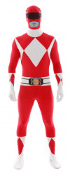 Disfraz Morphsuits™ Power Rangers™ rojo adulto