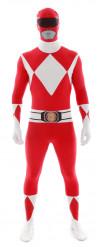 Disfraz Morphsuits™ Power Rangers™ rojo adulto