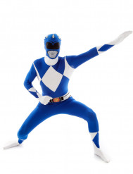Disfraz Morphsuits™ Power Rangers™ azul adulto