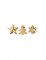 Decoración mesa Navidad oro