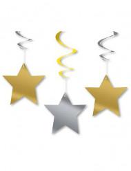 3 Decoraciones colgantes estrellas