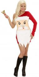 Disfraz cabeza de Papá Noel mujer