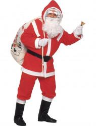 Disfraz de Papá Noel lujo hombre