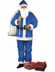 Disfraz de Papá Noel azul adulto