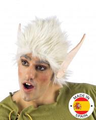 Peluca blanca con orejas de elfo
