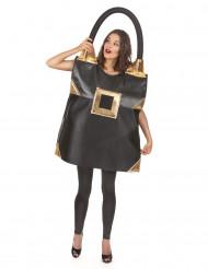 Disfraz de bolso negro mujer