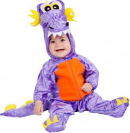 Disfraz dragoncito violeta bebé