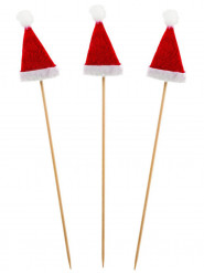 12 Palillos Gorro de Navidad