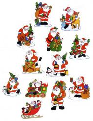 Decoración ventanas Papá Noel