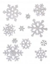 Decoración ventanas copos de nieve Navidad