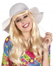 Sombrero de verano blanco mujer