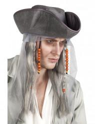 Peluca pirata gris hombre
