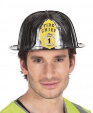Casco de bombero negro