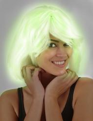 Peluca fluorescente mujer