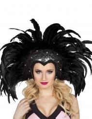 Cofia brasileña plumas negras