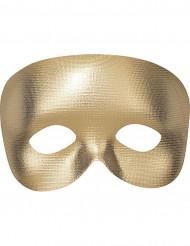 Semi máscara dorada adulto