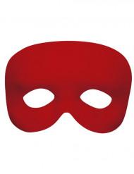 Semi máscara roja adulto