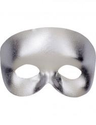 Semi máscara plateado adulto