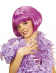 Peluca corta cabaret violeta niña