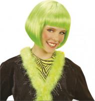 Peluca corta cabaret verde mujer