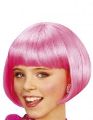 Peluca corta cabaré rosa niña