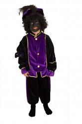 Disfraz paje morado niño