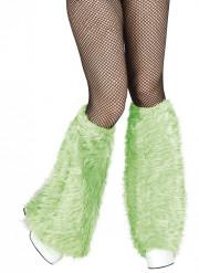 Calentadores verde peluche