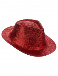 Sombrero brillante rojo adulto