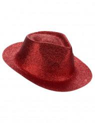 Sombrero brillante rojo adulto