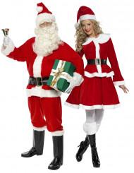 Disfraz de pareja Papá y Mamá Noel