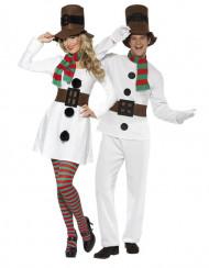 Disfraz de pareja muñeco de nieve