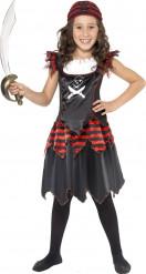 Disfraz pirata negro niña