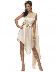 Disfraz diosa griega beige mujer