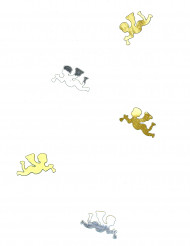 Confeti mesa ángel oro plata