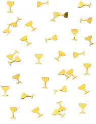 Confetis de mesa copa champán