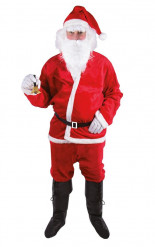 Disfraz Papá Noel adulto peluche