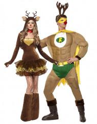 Disfraz de pareja renos