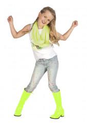 Botas de charol amarillo fluorescente niño