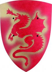 Escudo dragón rojo niño