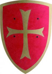 Escudo madera rojo niño
